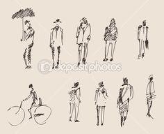 Этюд рук рисования людей — стоковая иллюстрация #72756277