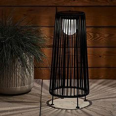 Elements Black Cotton Rope Solar Lantern | Dunelm Solar Lanterns, Solar Powered Lanterns, Cotton Rope, Black Cotton, Bar Stools, Bulb, Lights, Steel, Modern