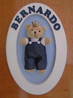Porta Maternidade Urso Provençal - R$ 79,90 no MercadoLivre