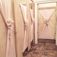 We even #WinkedOut the restrooms! #kimothywedding