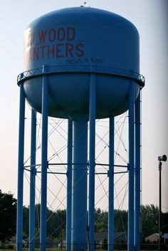 Elwood, Indiana water tower Elwood Panthers