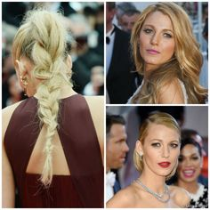 Blake Lively at Cannes 2014 #tousled braid