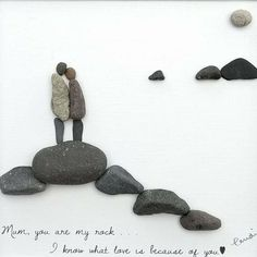 Pebble Art mother's day gift Pebble picture mum birthday