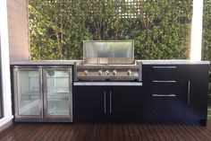 Elegant and Functional Outdoor kitchen Husky 2 door fridge
