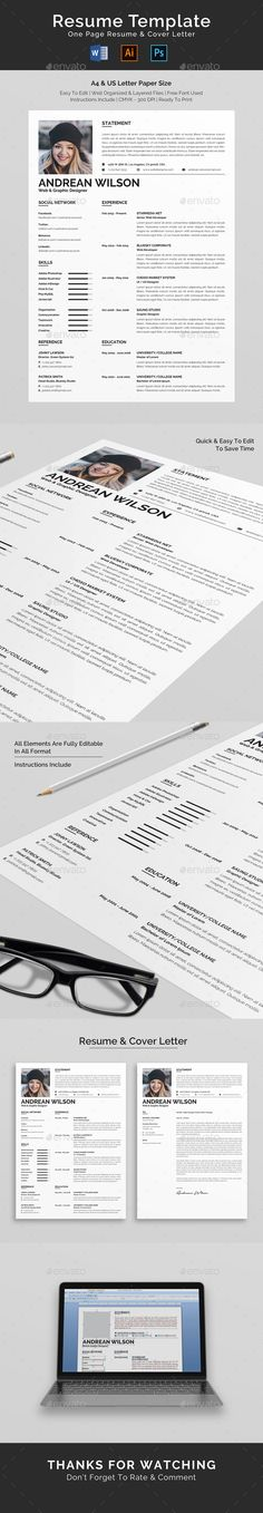 This is Clean & Professional Resume/CV Template for you ready in several format. The Template design is friendly use with strong t College Resume Template, Best Resume Template, Resume Design Template, Cv Template, Resume Action Words, Resume Words Skills, Teaching Resume, Resume Writing, Job Resume
