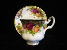 Footed Demitasse Cup & Saucer Set in Old Country Roses by Royal Albert by SharriesLOVECOMFORTS on Etsy Vintage Crockery, Royal Albert, Rose Bouquet, Cup And Saucer Set, Afternoon Tea, Bone China, Tea Pots, Roses, Sale Sale