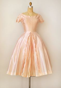 Beautiful Vintage Blush Party Dress. ca. 1950