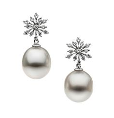 Essential Collection | Autore Pearls - Earrings in white gold,with South Sea Pearls and diamonds