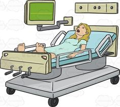 Woman Is Laying In A Hospital Bed With Her Mouth Open #dead #death #heart #hospital #inpain #layingdown #moaninginpain #monitor #noheartbeat #novitals #openmouth #screaming