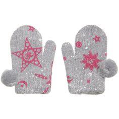 John Galliano Baby Girls Grey Wool Mittens