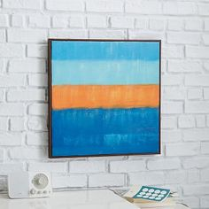 """Sunset"" - painting from Westelm.  24"" square. on canvas with wood frame.  $149"