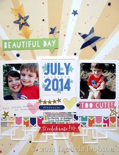 Layout By Daniela Dobson using the Elle's Studio 2014 exclusive July kit
