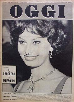 Sophia Loren - Oggi Magazine [Italy] (9 June 1960)