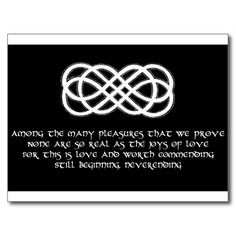Vikinger Tattoo – Neverending Celtic Love Knot and poem