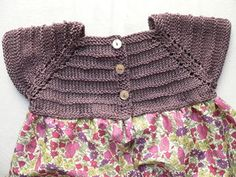 another knit top with fabric skirt attached