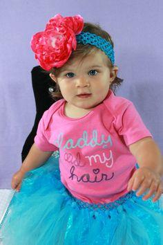 Daddys Did My Hair  Baby Infant Girls Tutu by HandpickedHandmade, $14.00