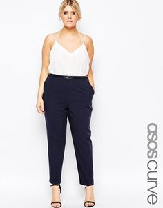 Shop for women's plus size clothing with ASOS. Discover plus size fashion and shop ASOS Curve for the latest styles for curvy women. Plus Size Fashion For Women, Curvy Women Fashion, Plus Size Womens Clothing, Cigarette Pants Outfit, Cigarette Trousers, Curvy Outfits, Plus Size Outfits, Outfit Formal Mujer, Plus Size Looks