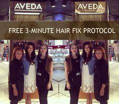 AVEDA Free 3-Minute Hair Fix Protocol in The Loop Dublin Airport, Hair Fixing, Aveda, Hair Beauty, Free, Cute Hair