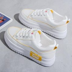White Casual Shoes, White Flats, Casual Loafers, Casual Sneakers, Sneakers Fashion, Fashion Shoes, Womens White Sneakers, Women's Sneakers, Nike Air Max For Women
