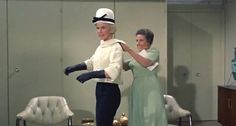 """3/17/14  Universal International Pictures  """"Lover Come Back""""  Doris Day Rock Hudson   Ann B. Davis  Forever the Stylish Icon Black/White Outfit   Released: 12/1961 thosemoes.com"""