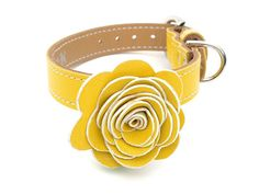 The Flower Child Dog Collar  Sunshine Yellow by LuxeMutt on Etsy, $59.95