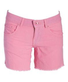 Pink Cutoff Shorts