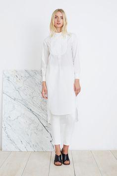 SAMARA SHIRT DRESS - WHITE | Apiece Apart