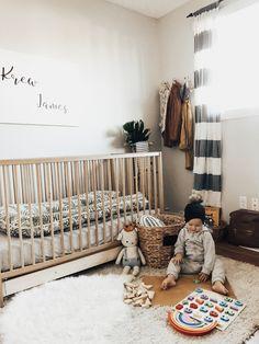 #genderneutralnursery #genderneutral #babynursery #nurserydecor #dockatot #babyboy #boynursery #woodentoys #babywearing #midcenturymodern #cusdleandkind #diy #baby #motherhood #ohana Beige Nursery, Nursery Room, Nursery Decor, Room Decor, Baby Bedroom, Kids Bedroom, Kids Rooms, Room Boys, Kids Room Design