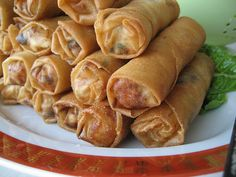 Vietnamese crispy spring rolls with pork and shrimp - inspired by spring rolls that I had every day for a week