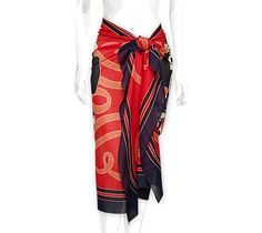 "Brides de Gala Hermes printed beach pareo in 100% muslin cotton Measures 35.4"" x 59"""