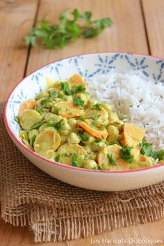 Curry de pois chiches au lait de coco