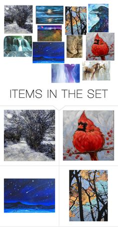 """""""Paintings"""" by jordan-moffitt ❤ liked on Polyvore featuring art"""