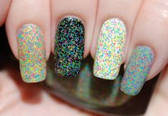 8Bit Digits  Fine Neon Glitter Nail Polish 15ml .5oz by ModLacquer, $9.50