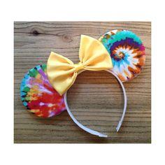Tie Dye Mouse Ears by ShopHouseOfMouse on Etsy https://www.etsy.com/listing/183979469/tie-dye-mouse-ears