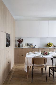 My Kitchen Rules, Open Plan Kitchen, Home Decor Kitchen, New Kitchen, Home Kitchens, Kitchen Dining, Aesthetic Rooms, Cuisines Design, Interior Design Inspiration