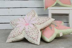 Flower Shaped Pillow, shabby chic Nursery girl bedroom decor