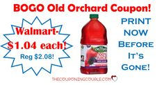 **PRINT NOW** There is a BOGO Old Orchard Juice product coupon to print! Print it now before it is gone! Use at your favorite store or grab a deal at Walmart!  Click the link below to get all of the details ► http://www.thecouponingcouple.com/print-now-bogo-old-orchard-juice-product-coupon/ #Coupons #Couponing #CouponCommunity  Visit us at http://www.thecouponingcouple.com for more great posts!