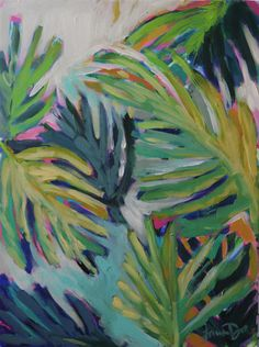 Teal Palm Leaf Styled