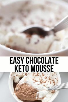Low Carb Sweets, Low Carb Desserts, Healthy Desserts, Easy Desserts, Low Carb Recipes, Dessert Recipes, Healthy Recipes, Dinner Recipes, Pudding Recipes