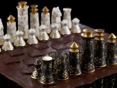 """Kutani-yaki"" is a major craft made in Ishikawa Prefecture. This chess set is created by a collaboration of Japanese artisan and American designer. Price: over 57,000 USD"