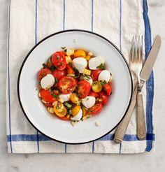 Cherry Tomato Basil Salad | Summer Salad Roundup