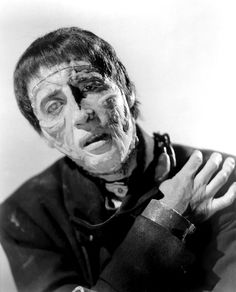 "Christopher Lee in Hammer's ""The Curse of Frankenstein"" (1957)"