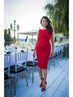 RED DRAPED DREAM - Rhea Costa-Shop Little Red Dress, Costa, Feminine, Elegant, Chic, Dreams, Shopping, Design, Fashion
