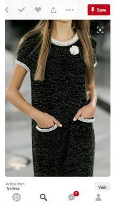 Shop Designer Clothing Bags & Accessories Up to Off - Chanel Clothes - Trending Chanel Clothes - Chanel Dress Look Fashion, High Fashion, Womens Fashion, Fashion Design, Fashion Trends, Style Haute Couture, Chanel Couture, Chanel Dress, Chanel Chanel