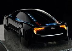 "Audi's ""Visions"" car light concept. Kind of Tron-ish. (dear future husband, start saving. we're getting this car.)"