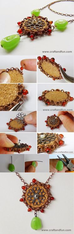 DIY Jewelry Ideas: DIY Wine Cork Pendant | Jewelry and Gift Ideas from Wine Cork Crafts by DIY Ready at http://diyready.com/more-wine-cork-crafts-ideas/