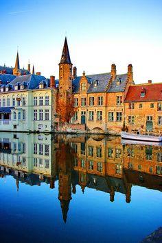 River Reflection, Bruges, Belgium <3