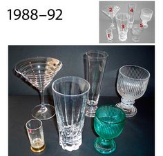 Kosta Boda, Pressed Glass, Glass Collection, Dinnerware, Scandinavian, Mid Century, Bar, Tableware, Design
