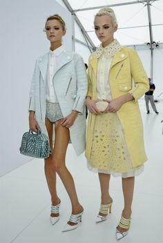 Ginta and Kasia backstage at Louis Vuitton spring/summer 2012.