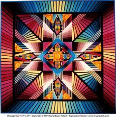 Chicago Star © 1991 Art Quilt by Caryl Bryer Fallert-Gentry, Paducah KY & Port Townsend, WA